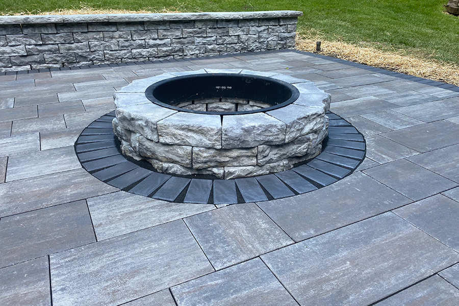 Landscaping Fire Pit Installation